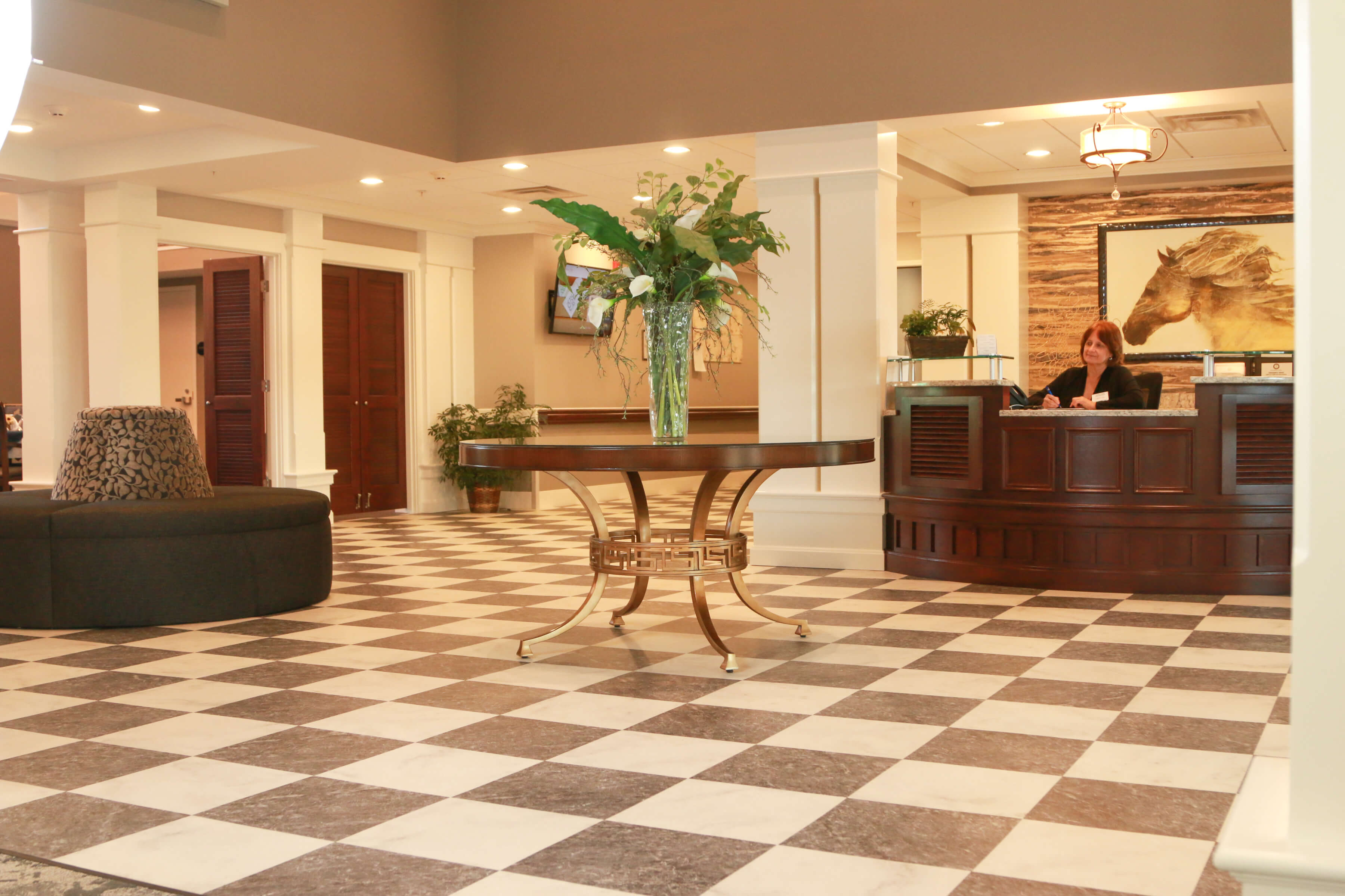 exceptional senior living lobby